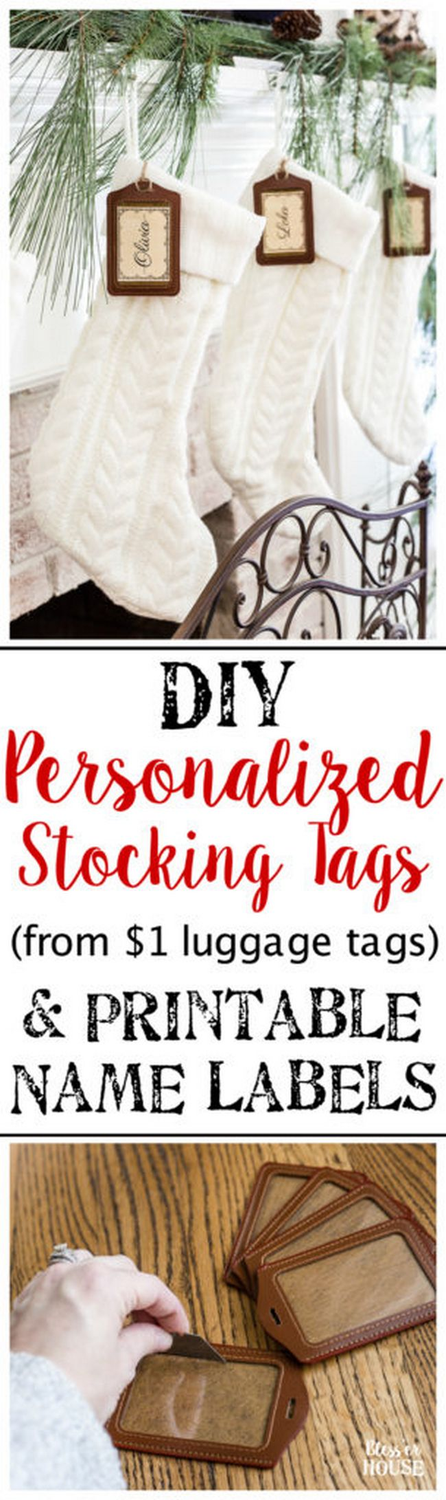 DIY Personalized Stocking Tags