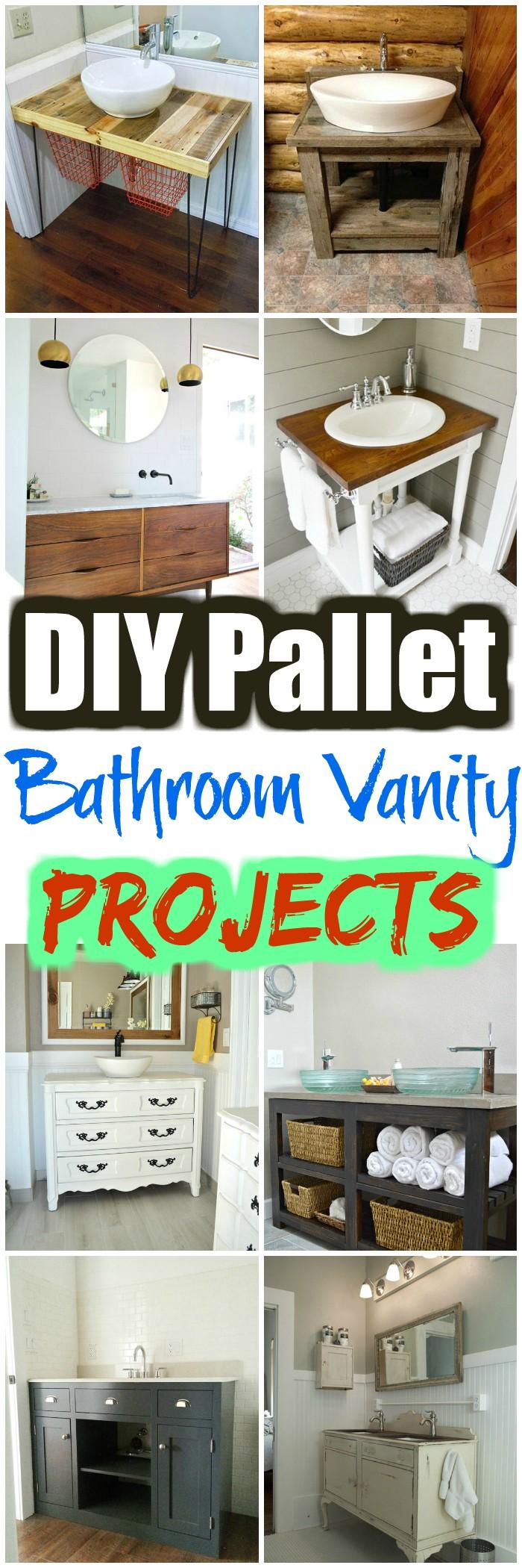 DIY Pallet Bathroom Vanity