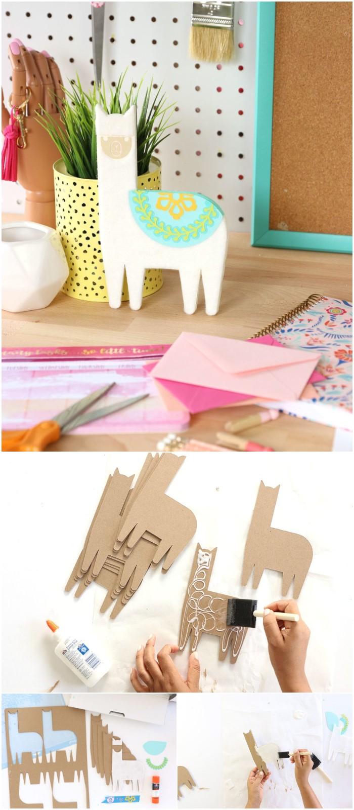 DIY Chipboard Llama