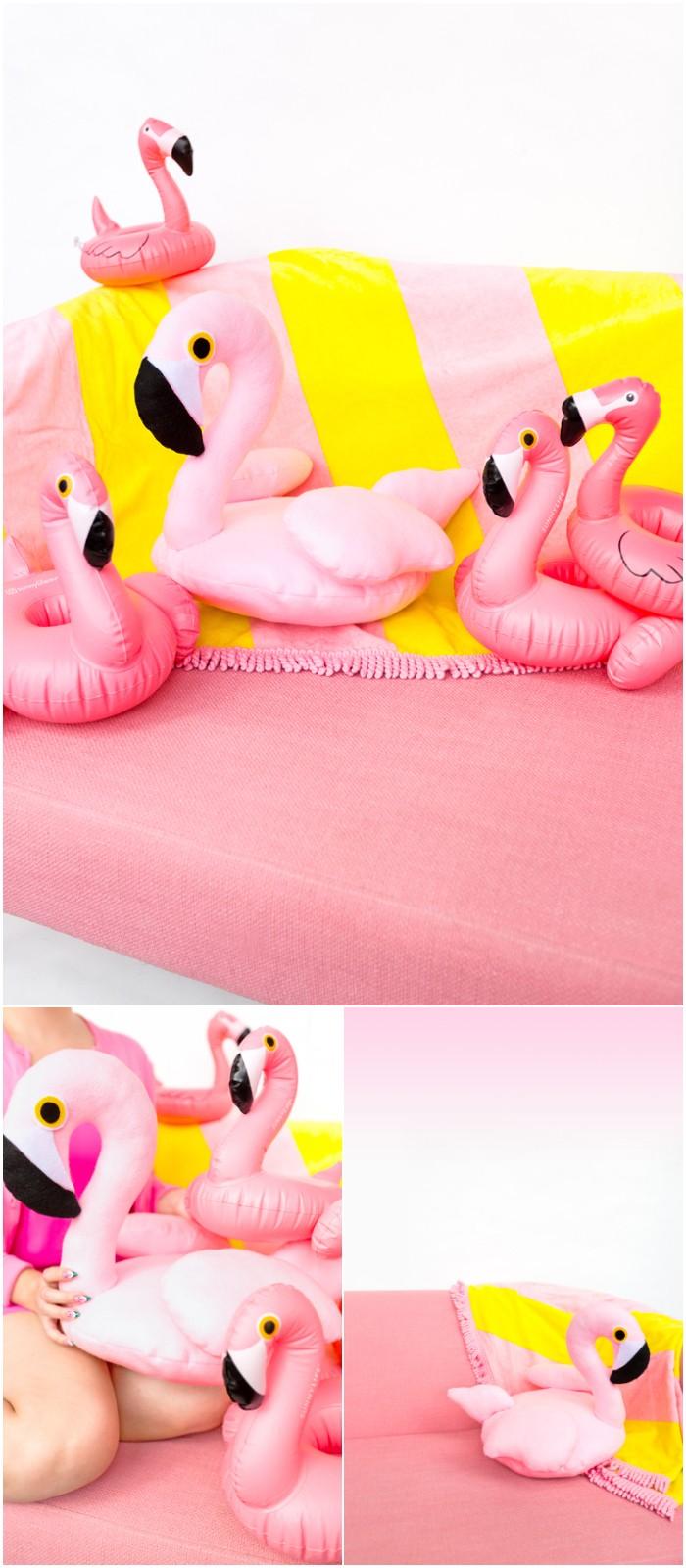 DIY Flamingo Pool Float Pillow