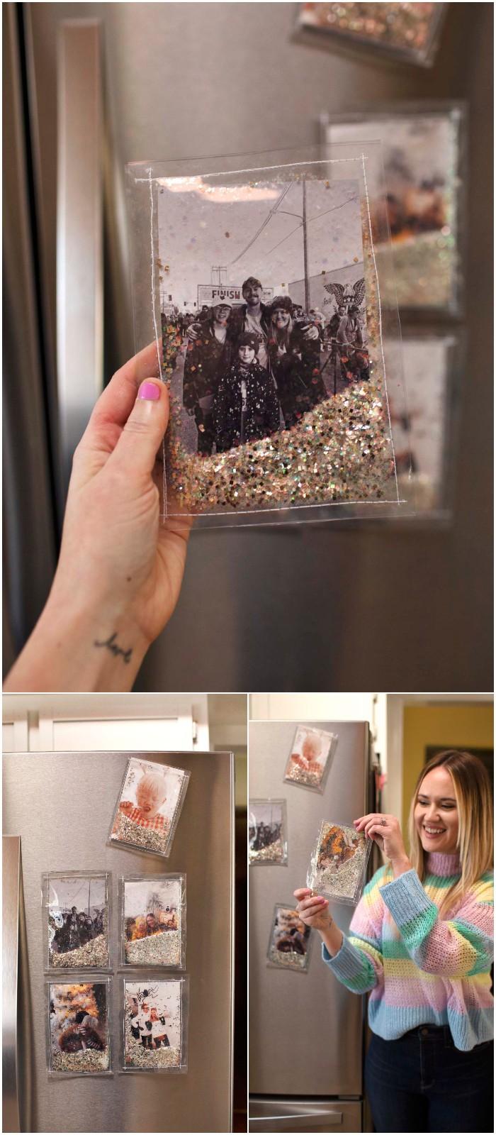 Diy Glitter Photo Frames
