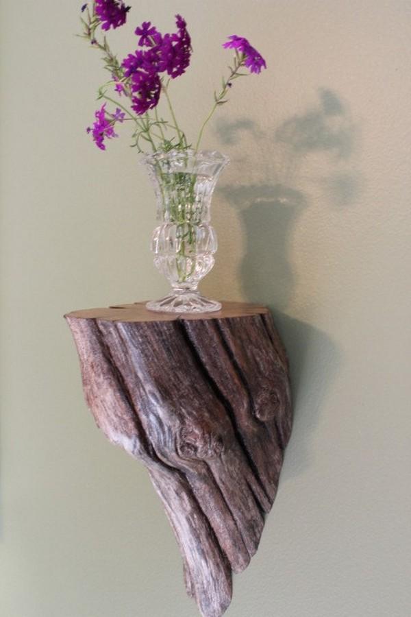 Tree Stump shelves