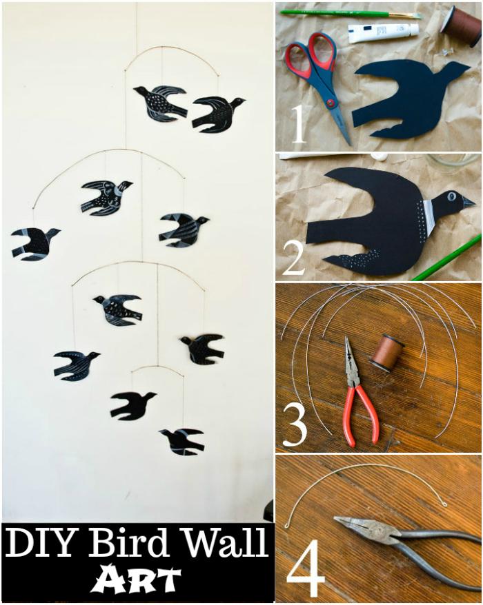 DIY Mobile Bird Wall Art