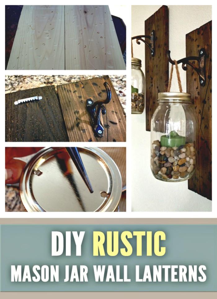 DIY Mason Jar Wall Lanterns