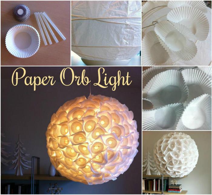 Precious Paper Orb Light