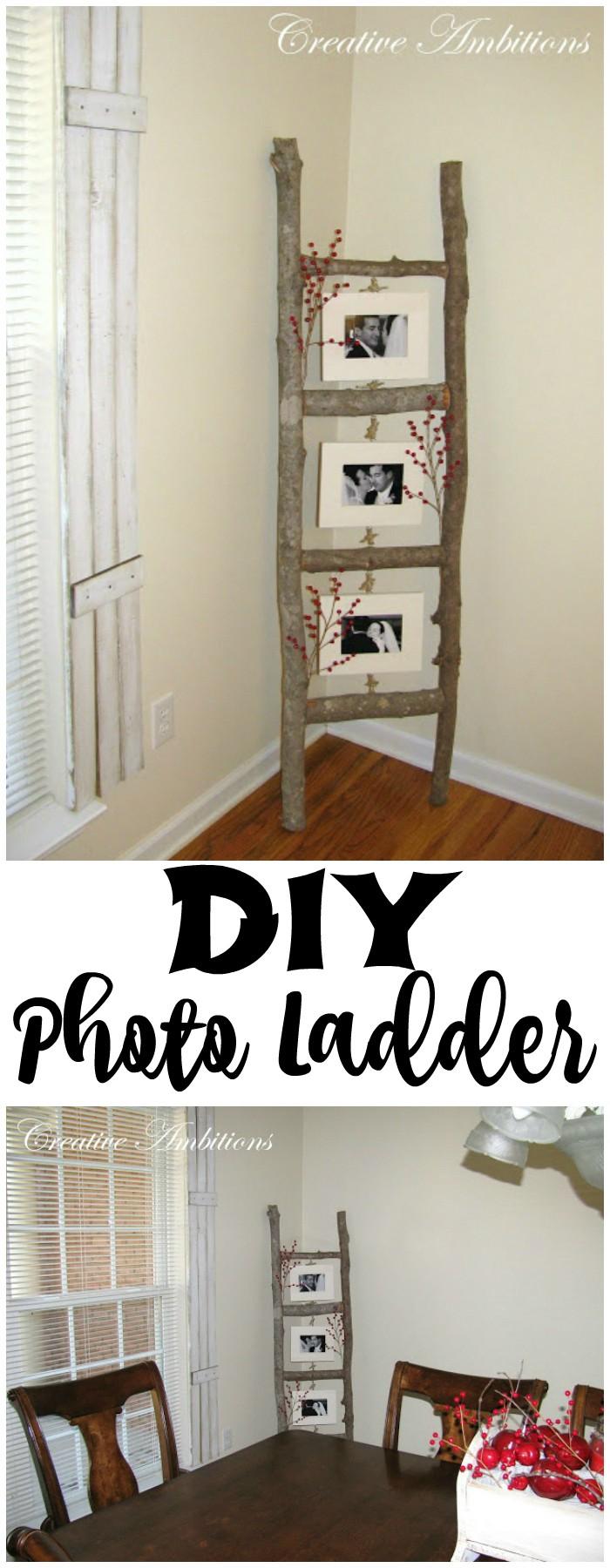 Rustic DIY Photo Ladder