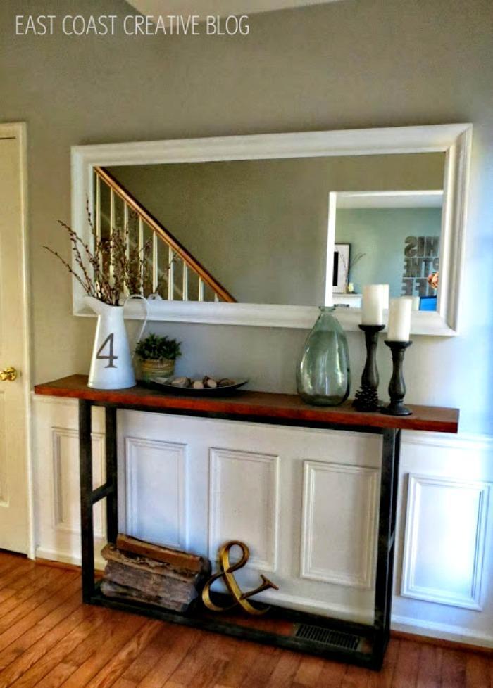 DIY Pottery barn entryway Table