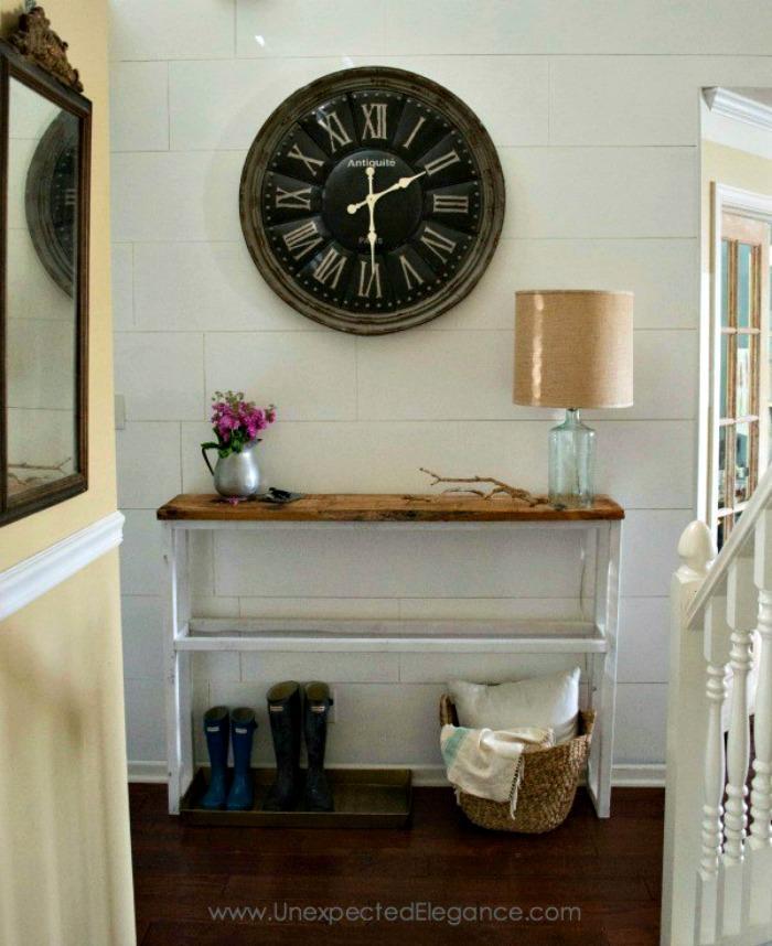 DIY Self-Made Entryway table