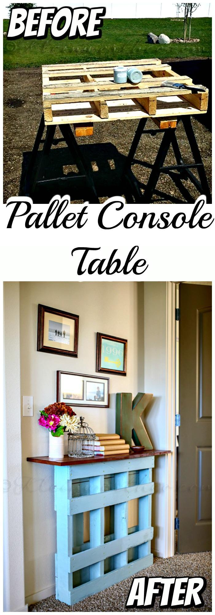 Pallet Console Table Project