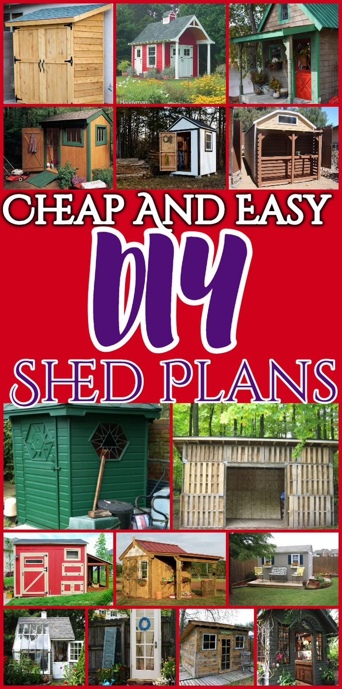 Do It Yourself Home Design: 30 Cheap And Easy DIY Shed Plans • DIY Home Decor