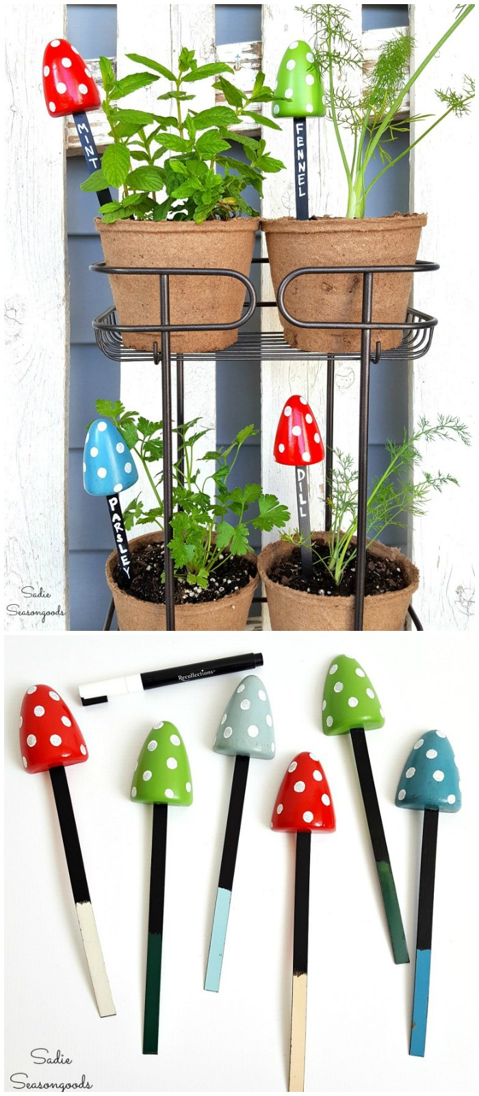 Upcycled Herb Garden From Shoe Stretchers