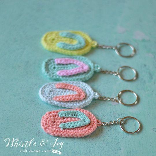 Crochet Pattern Flip Flop Keychain