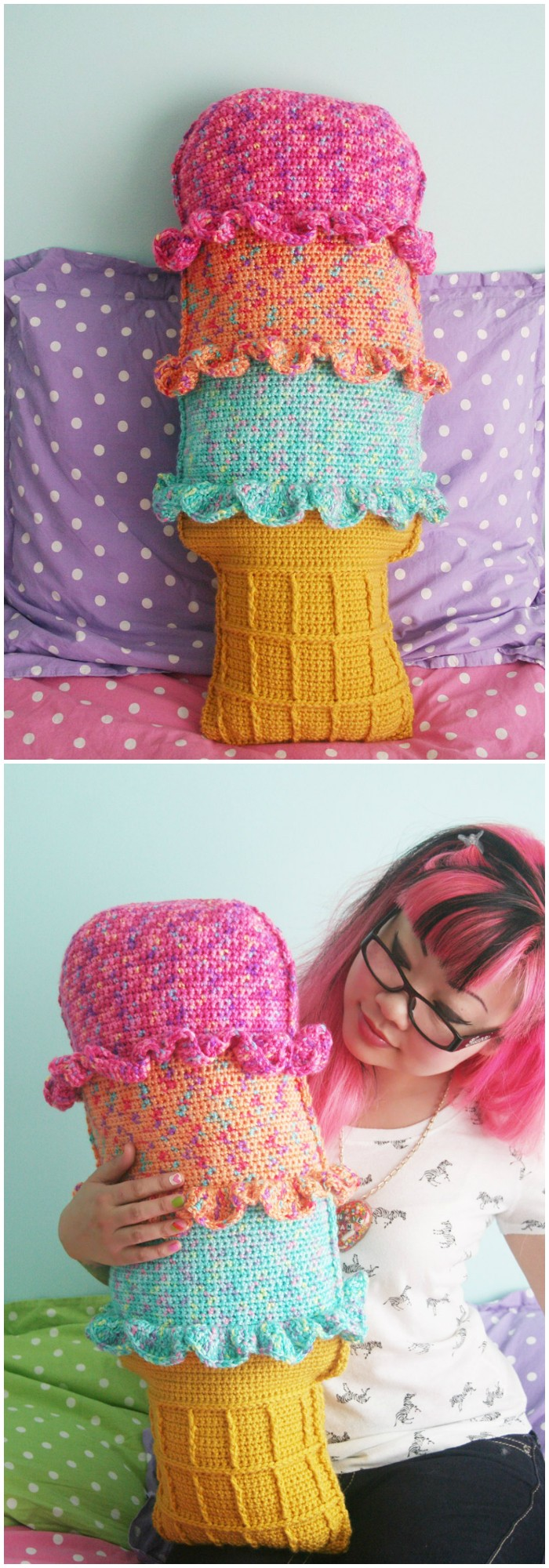 Rainbow Sherbet Throw Pillow