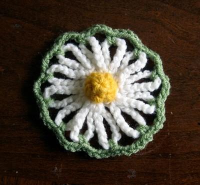 Crochet Flowers Vintage Daisy Motif
