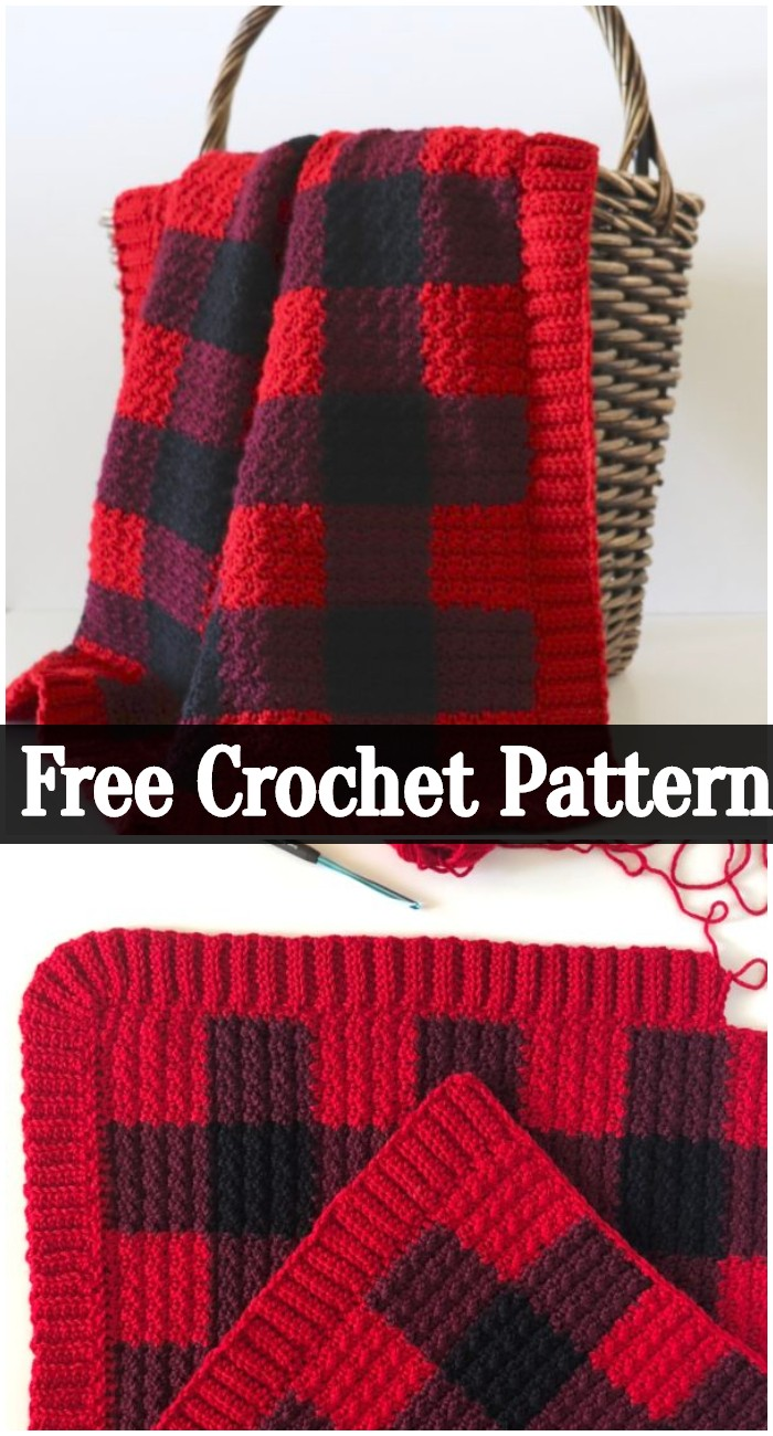 Buffalo Check Crochet Blanket