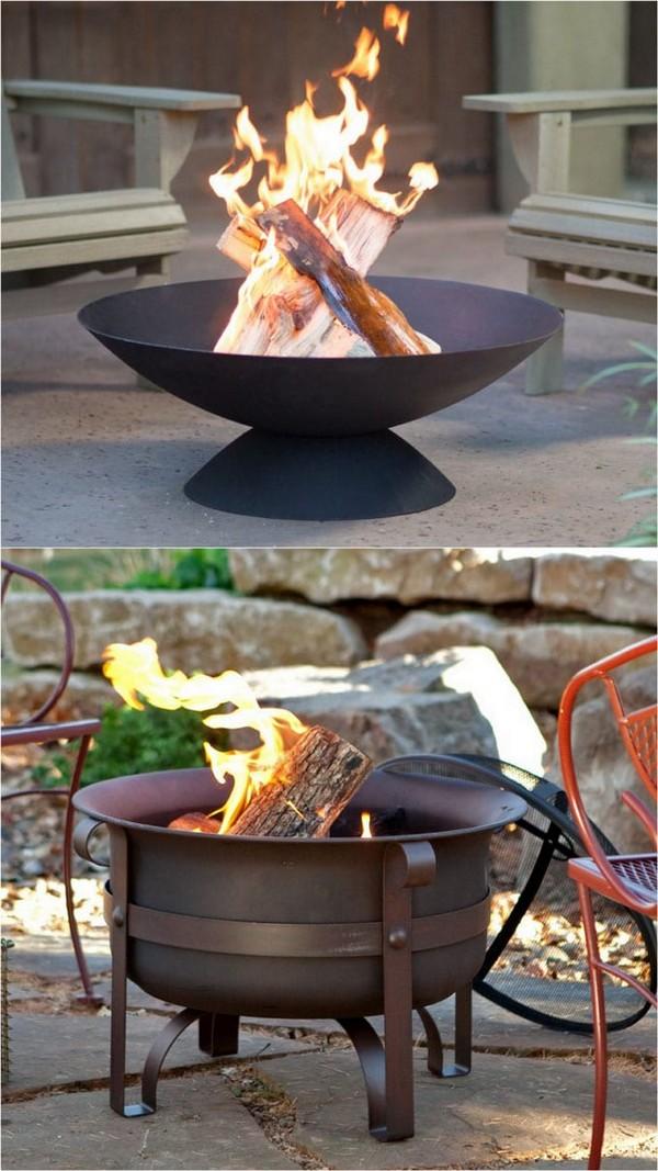Beautiful Wood Burning DIY Fire Bowls