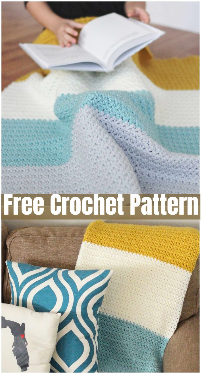 Color Block Crochet Blanket Pattern