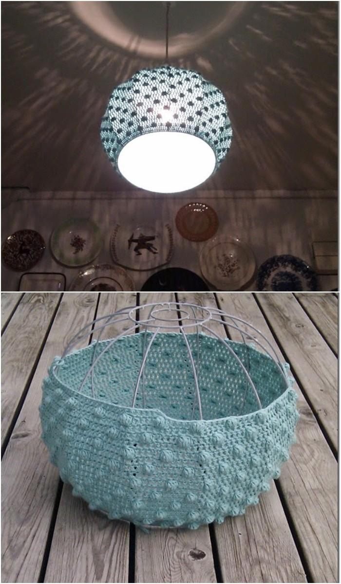 Crochet Bobble Stitch Lampshade