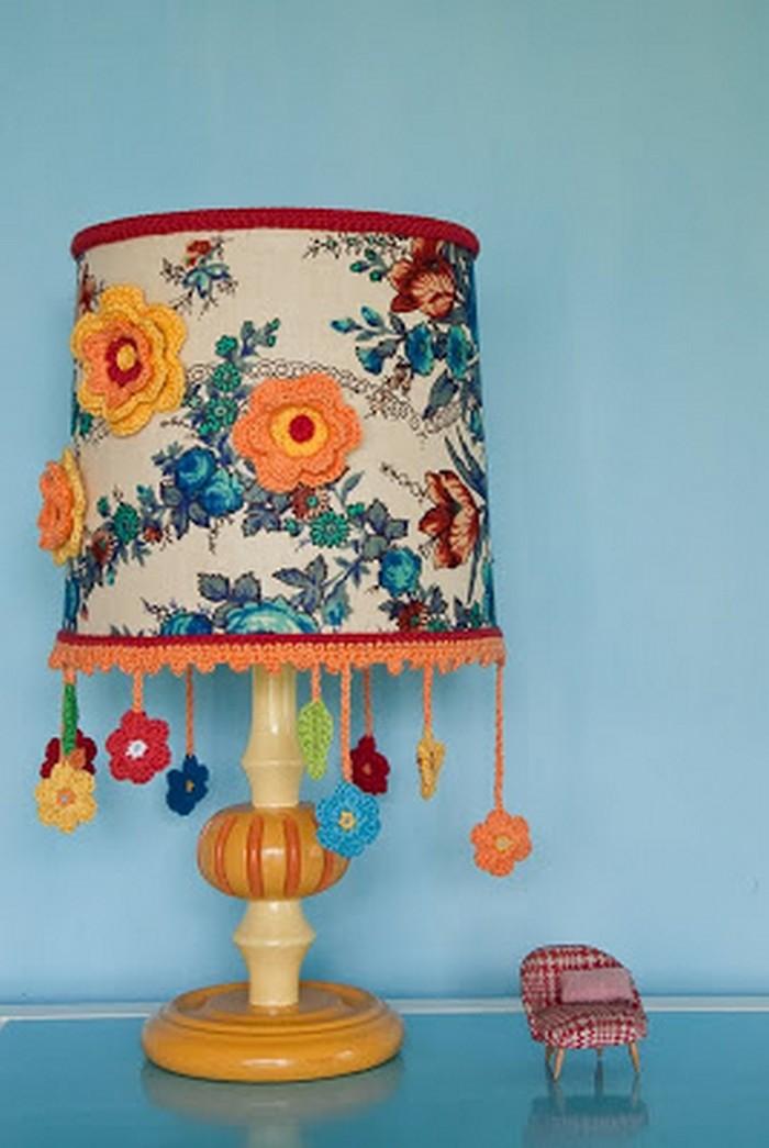Crochet Flower Lampshade