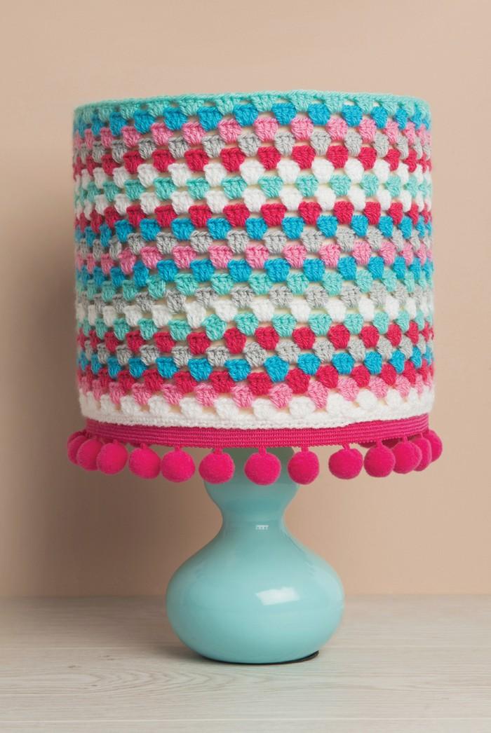 Crochet Granny Stripe Lampshade