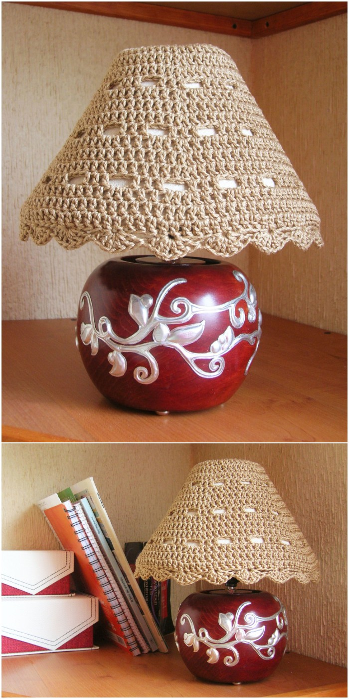 Crochet Lampshade Cozy