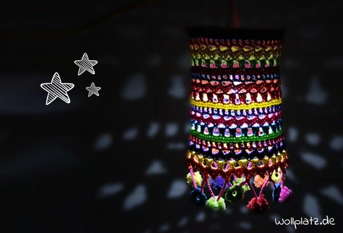 Crochet Rainbow Lamp Shade Cover