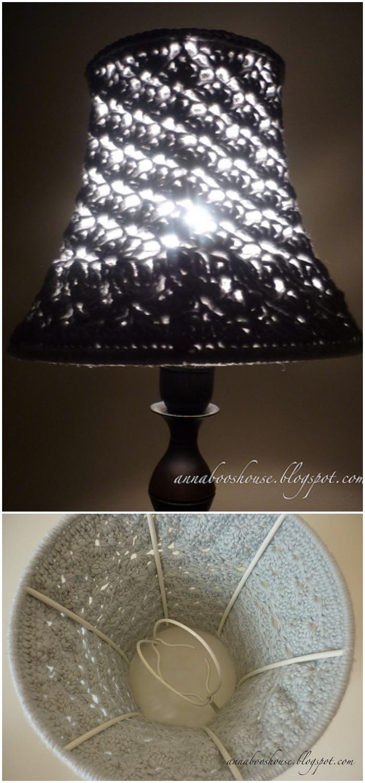 Crochet Shell Stitch Lamp Shade