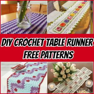 DIY Crochet Table Runner -Free Patterns