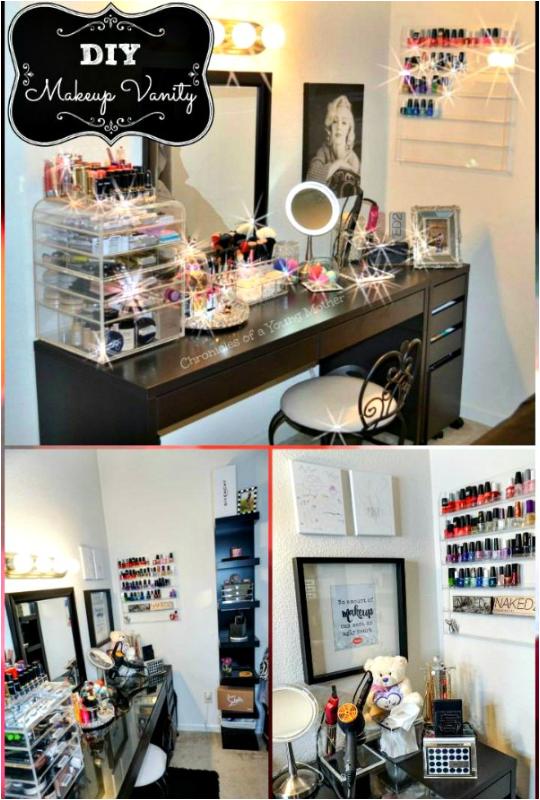 DIY Beautiful Makeup Vanity