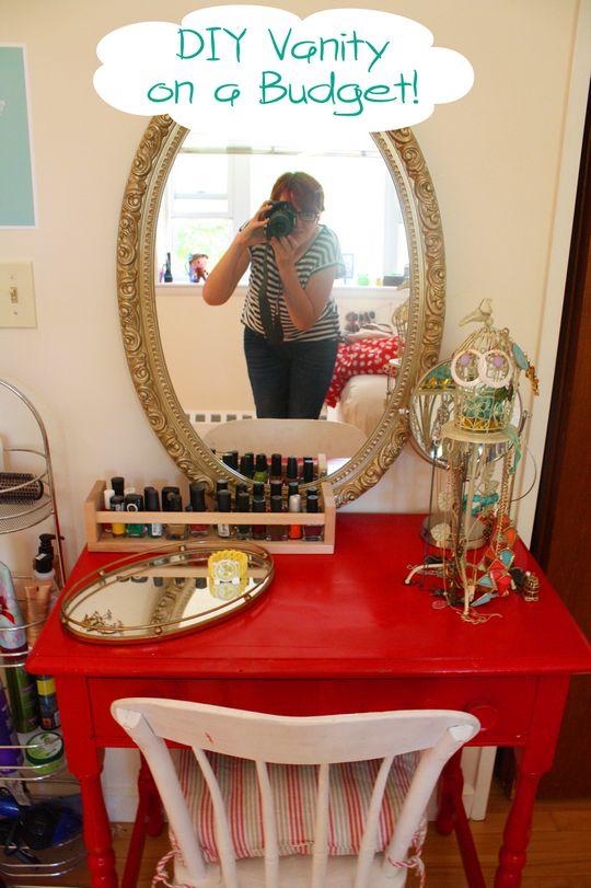 DIY Makeup Vanity Table