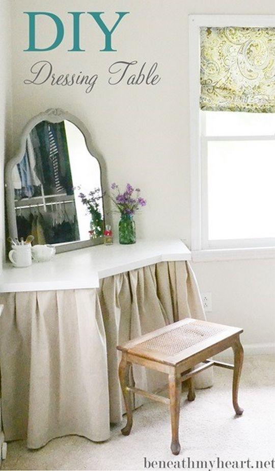 DIY Makeup Vanity Table Idea