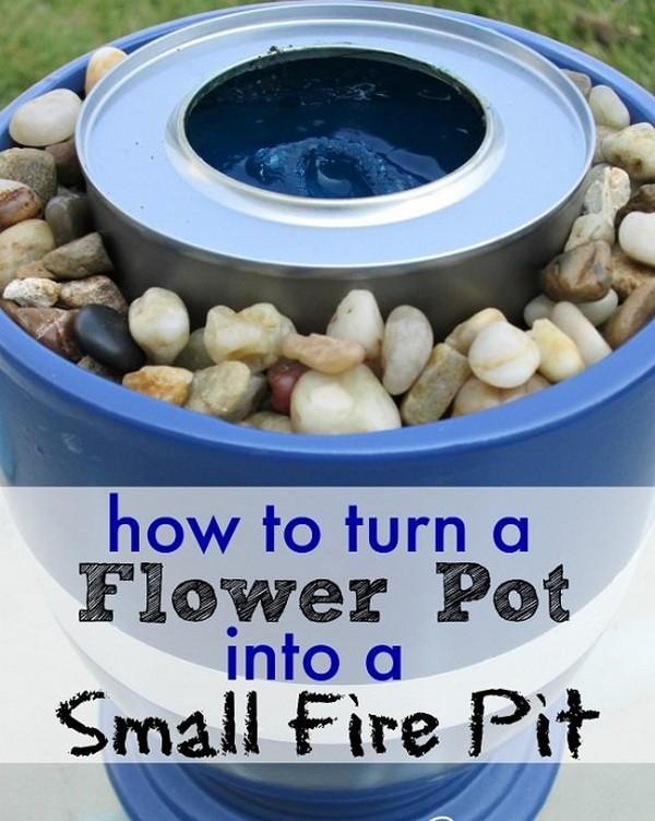 Flower Pot DIY Fire Bowl