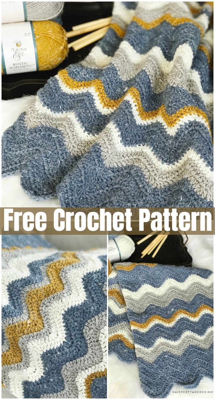 Pretty Chevron Blanket Crochet Pattern