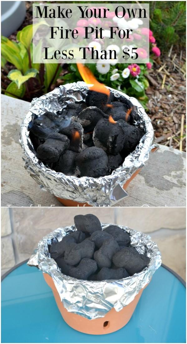 Tabletop Terracotta DIY Fire Bowl
