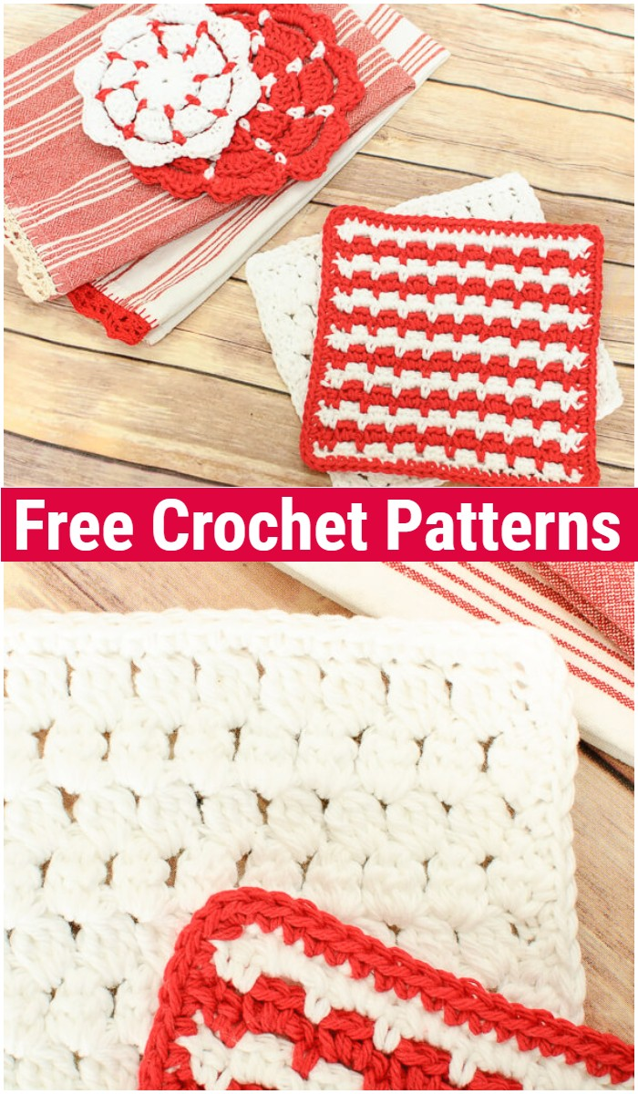Cluster Stitch Crochet Dishcloth