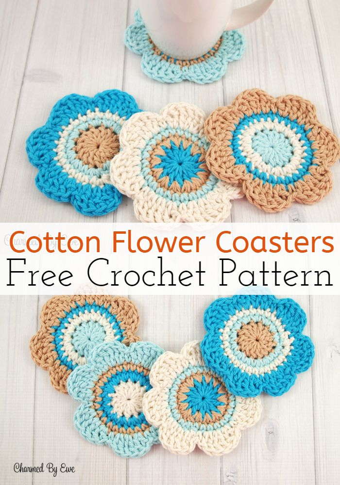 Cotton Flower Coasters
