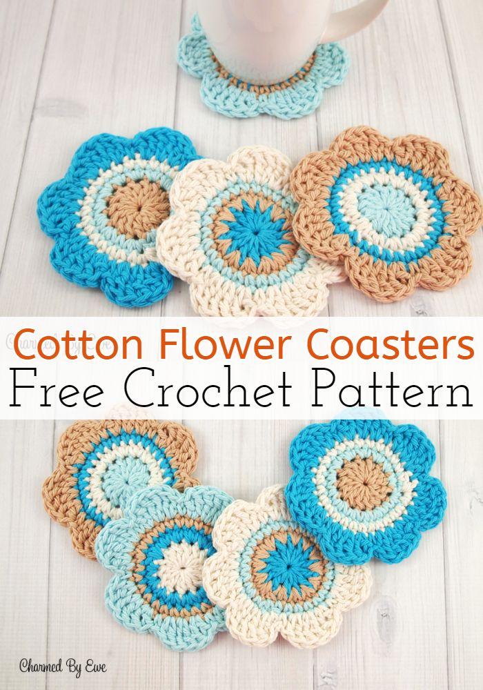 Cotton Flower Coasters