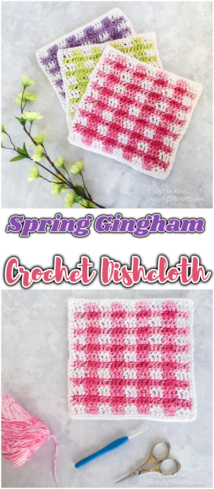 Spring Gingham Dishcloths