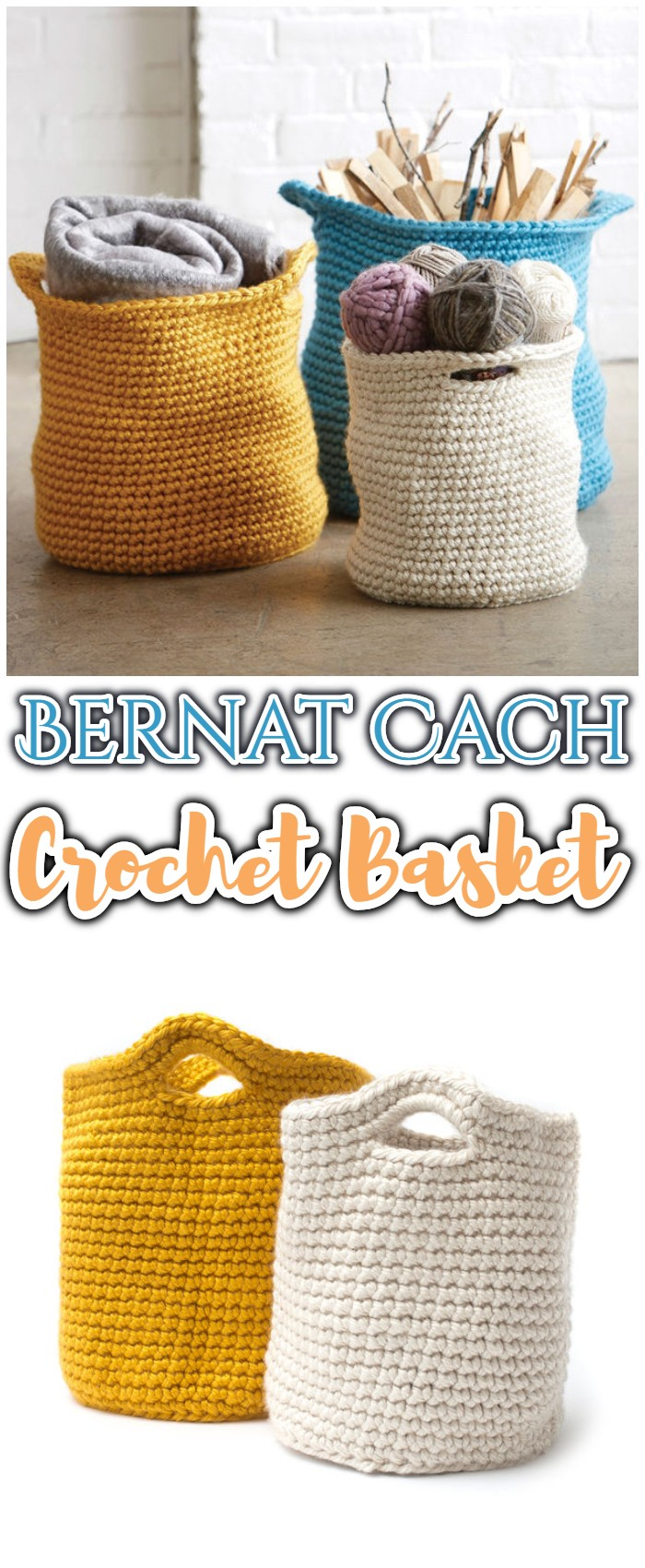 Bernat Cache Crochet Basket