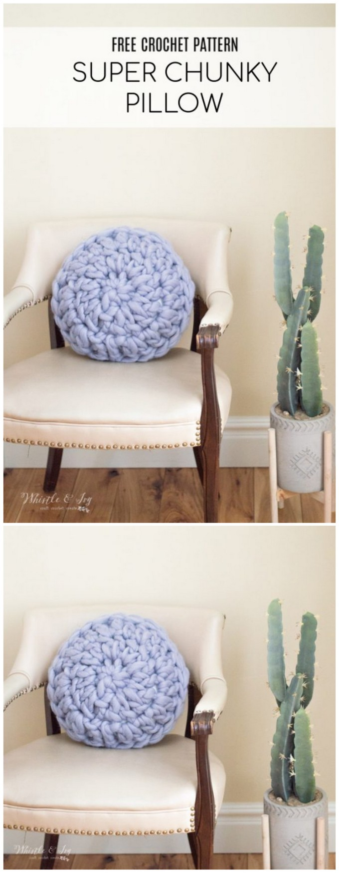Chunky Crochet Pillow
