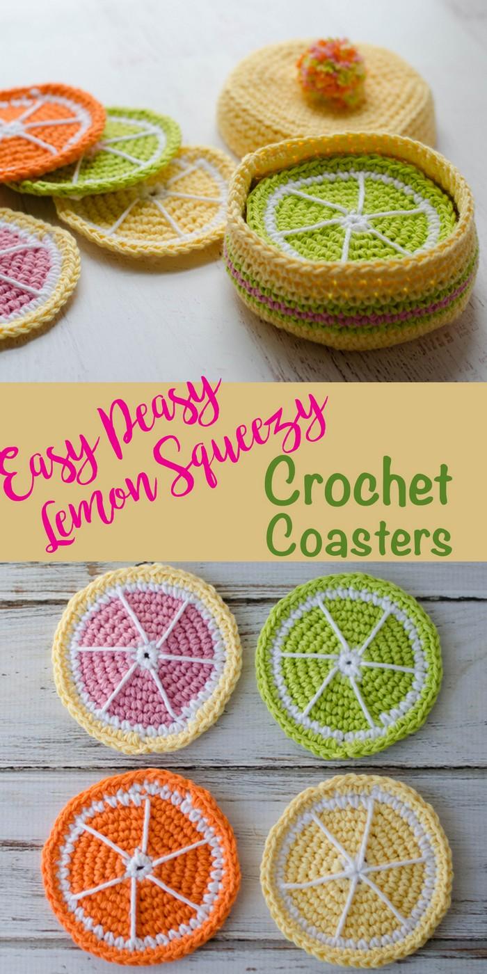 Crochet Citrus Coasters