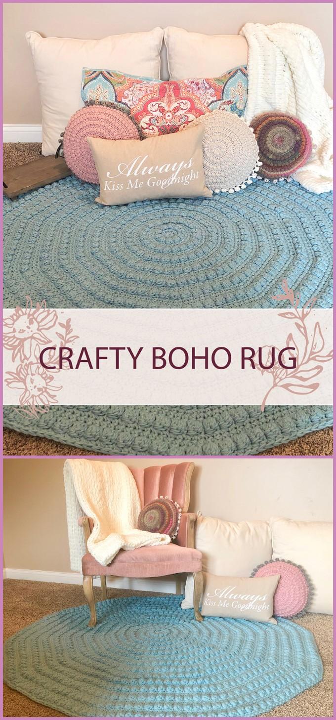 Crochet Crafty Boho Rug