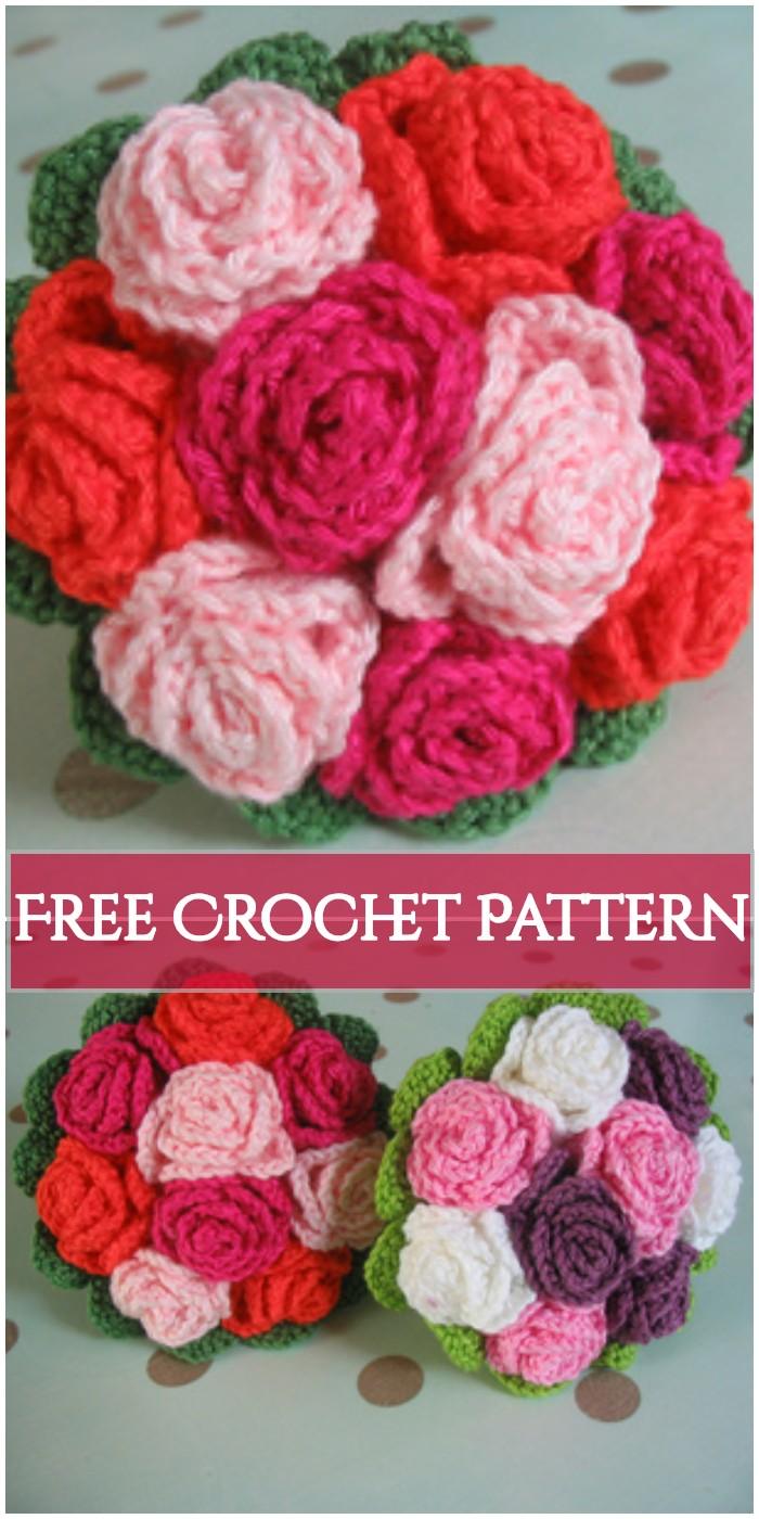 Crochet Redflower Bouquet
