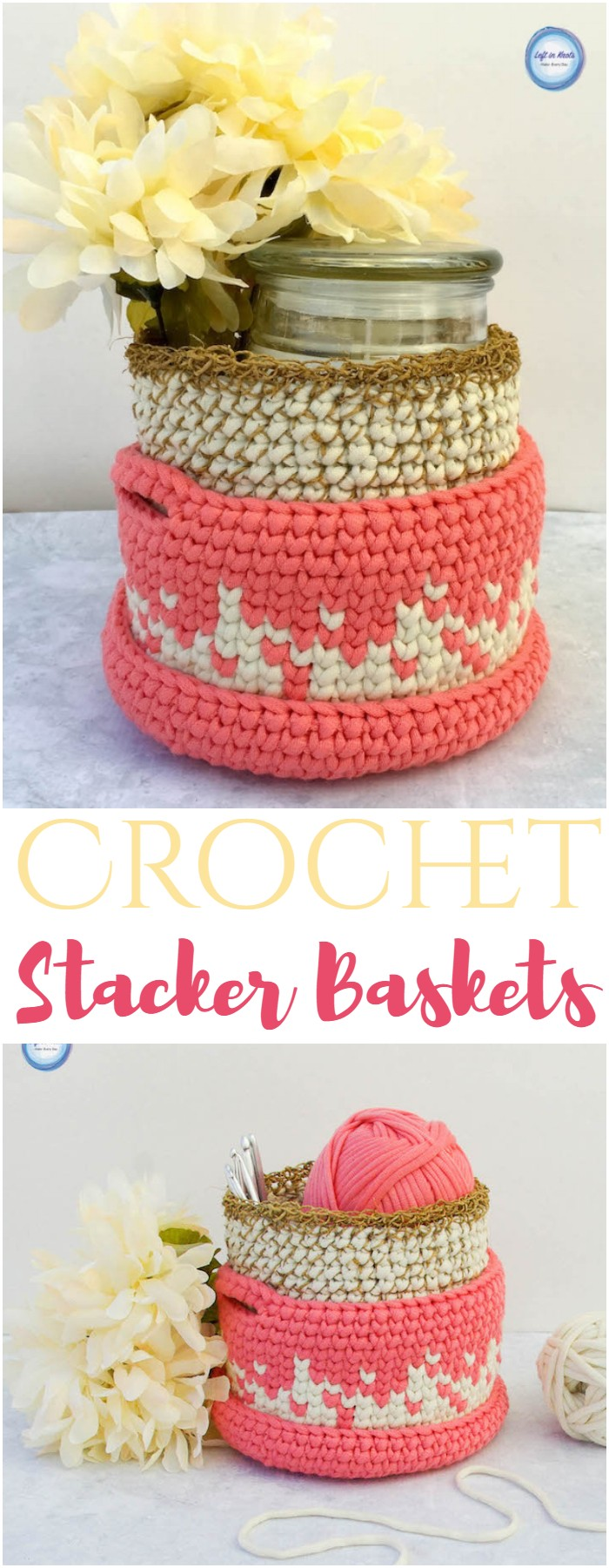 Crochet Stacker Baskets