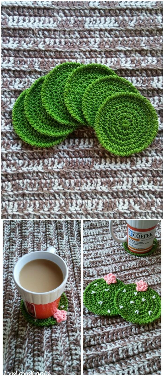 Cactus Crochet Coasters