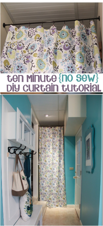 10 Minute No Sew Diy Curtain