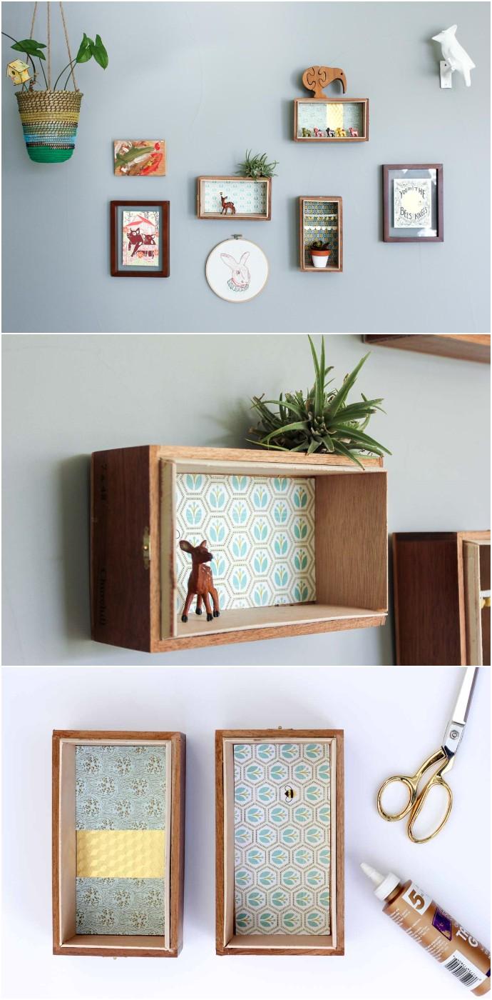 15 Minute Diy Floating Box Shelves
