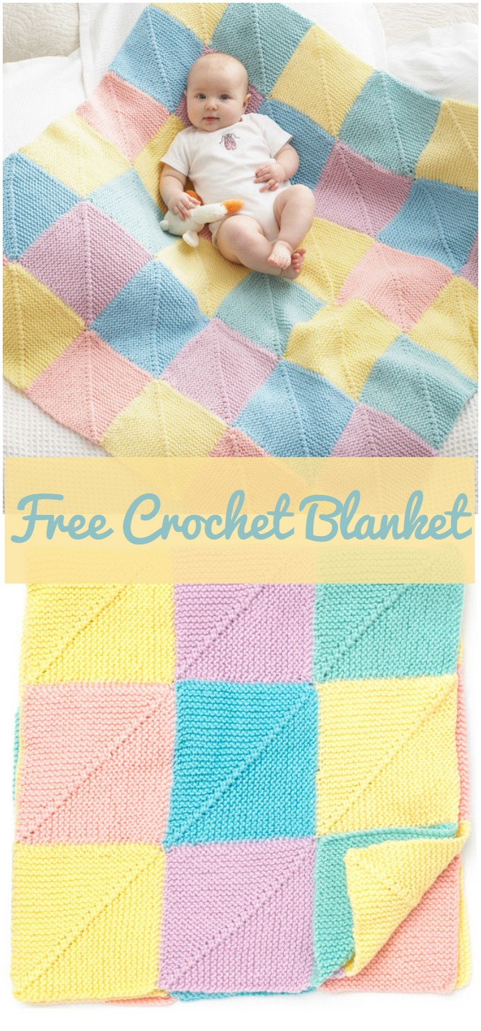 Bernat Mitered Squares BlanketBernat Mitered Squares Blanket Whether you are looking for an afghan, a granny square, a baby blanket or any other design, here you will find all new crochet blanket patterns that you will really fall in love with them. #Blankets #crochetblanket #crochetblanketpatterns #freecrochetblanketpattern #crochetblanketafghan