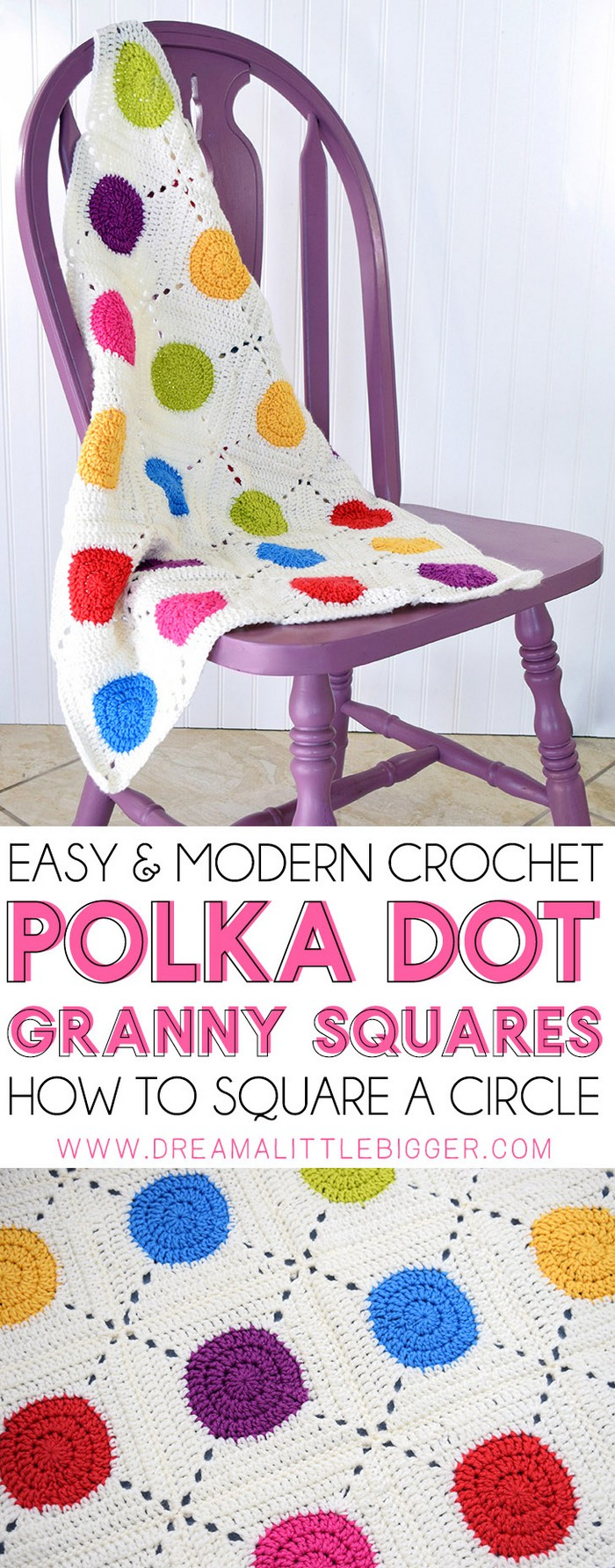 Crochet Circle Granny Squares-Whether you are looking for an afghan, a granny square, a baby blanket or any other design, here you will find all new crochet blanket patterns that you will really fall in love with them. #Blankets #crochetblanket #crochetblanketpatterns #freecrochetblanketpattern #crochetblanketafghan