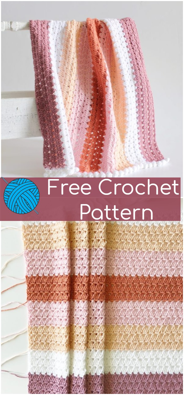 Crochet Modern Boho Granny Blanket